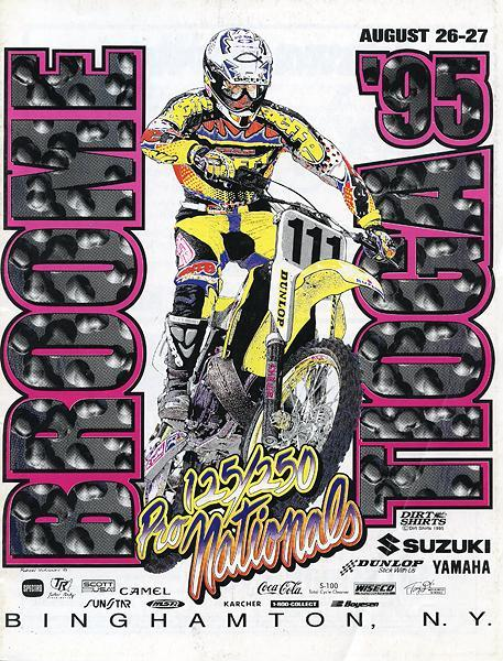 Somewhere in this classic Dirt Shirts design you will find Greg Albertyn, three-time world champ but AMA rookie in 1995.