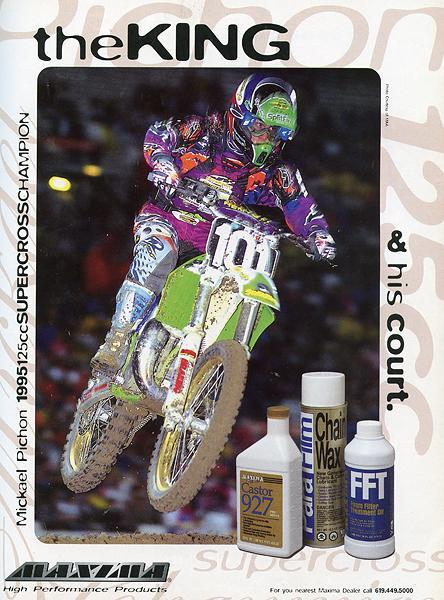 Mickael Pichon arrived on these shores in '95 and won the 125 East SX title but did not win a race outdoors.