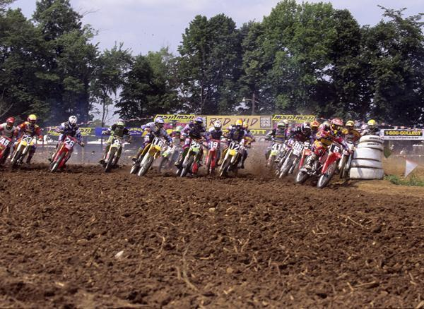 Steve Lamson (#5) won the 125 National MX Championship in 1995 as McGrath's teammate at Honda.