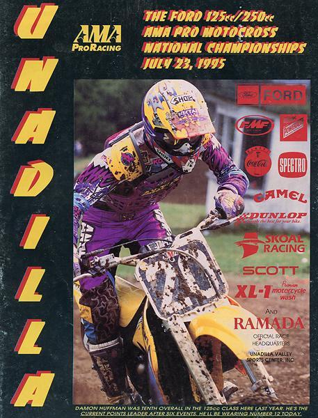 Damon Huffman scored the cover of the Unadilla National program.