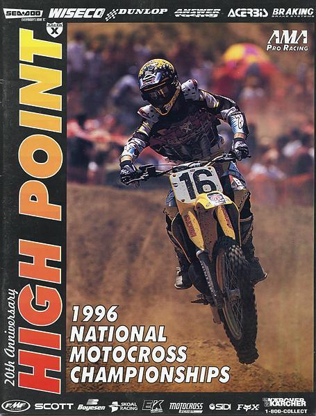 That's Greg Albertyn on the cover of the '96 High Point program.