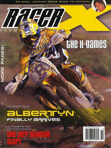 After four years and countless crashes, Greg Albertyn finally settled down and earned himself the AMA Motocross title and this cover of Racer X.