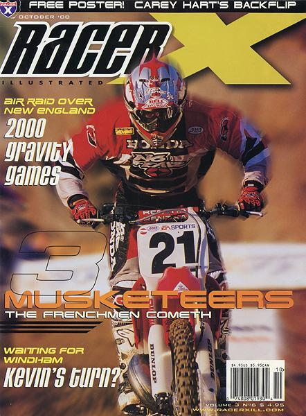 That's Sebastian Tortelli gracing the cover of Racer X in 2000.
