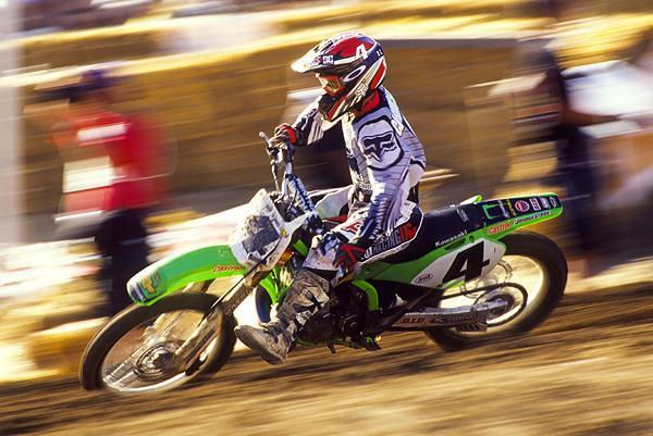 Ricky Carmichael won the final 13 rounds of AMA Supercross before heading outdoors. Check out the number four. This was the first time a defending champion chose not run the number-one plate.
