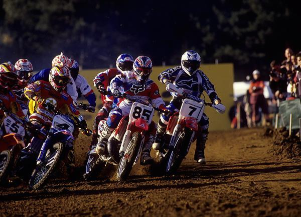 That's Carmichael on the #85 at the Motocross des Nations. In the one-moto format, he won a big showdown with Stefan Everts. But Everts' Belgian squad took the team trophy.