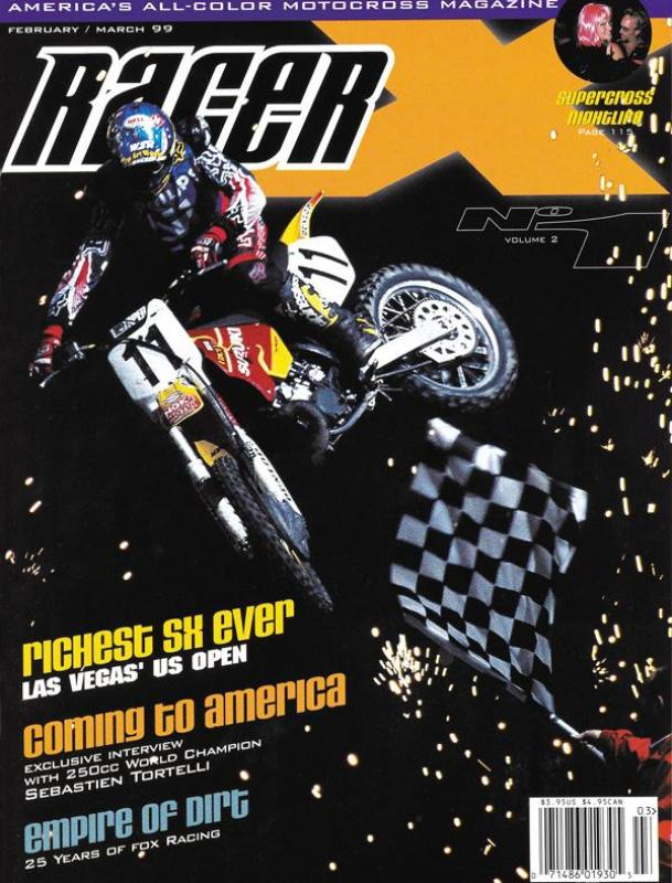 The Feb/March 1999 Issue - Racer X Illustrated  Magazine