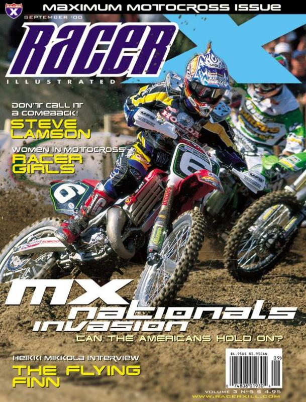 The September 2000 Issue - Racer X Illustrated Motocross Magazine