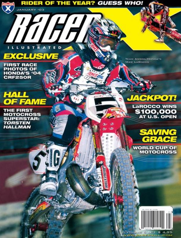The January 2003 Issue - Racer X Illustrated  Magazine