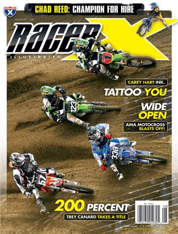 The August 2008 Issue - Racer X Illustrated Motocross Magazine