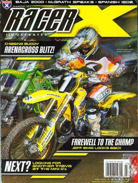 Buddy on the cover of Racer X