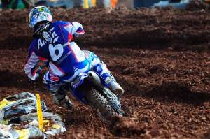France's Nicolas Aubin made his final lap the fastest of the MX3 class