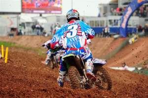 Tim Ferry battled the entire moto and made it to ninth