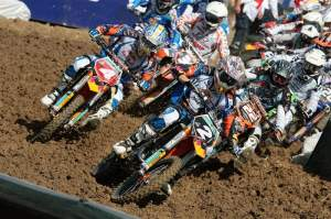 The MX2 riders blast off