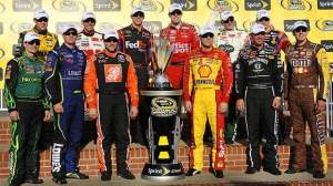 I'll only talk about NASCAR and Clint maybe 6 times a year. This is one of them. That's him in the Jack Daniel's firesuit. He is standing with 12 of the best drivers in the world. They will embark on a 10 race playoff event and try to win that trophy. On another side note related to NASCAR; 2001 was the year we lost Dale Earnhardt Sr. Clint drive's for Dale's old team.