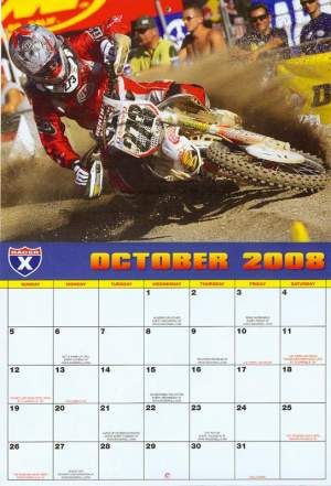 Gavin is October's featured rider in our 2008 Racer X calendar