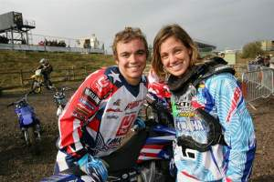 Team Puerto Rico teammates Zach Osborne and Tarah Gieger at the 2008 Red Bull Motocross of Nations.