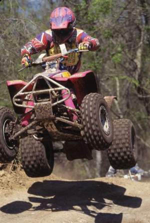 Barry Hawk back in his Bromley Suzuki ATV days