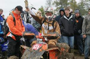 David Knight raced an ATV at the final GNCC