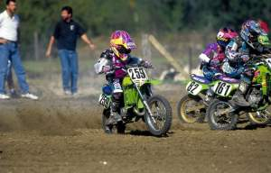 James Stewart at the Mini Olympics on a KX60