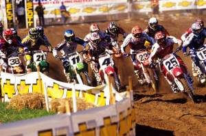 Ramsey (#25) rode the CRF450 in 2002