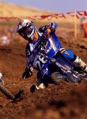 Nate was one of the first to race the YZ250F, seen here in 2001