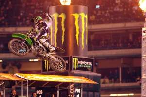 Weimer celebrates his second-ever SX victory.