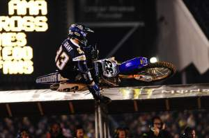 JG wore a Chargers jersey out for opening ceremonies but the moto gods must've been Raider fans because Grant hit the deck twice in the main. Once, really, really good.