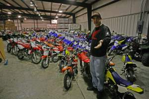 All of these bikes were pulled off the floor at Morgantown Honda