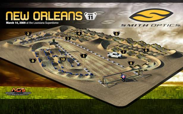 New Orleans Supercross Track