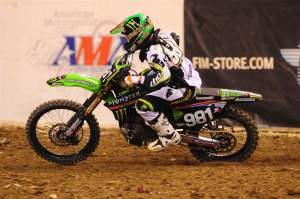 Austin Stroupe passed his teammate Christophe Pourcel to win the Lites main in Indy.