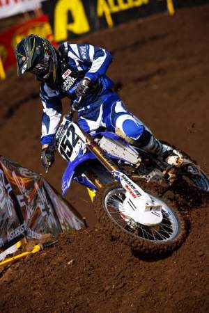 Think how hard it would be to go from a privateer CRF250 to a full factory YZ450? It didn't help that a Yamaha guy told me Hill's bike was very aggressive as well. Scott scored some points though!