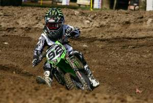 Adam Cianciarulo has won the 85cc 12-13 Stock class with a 1-2-1 score