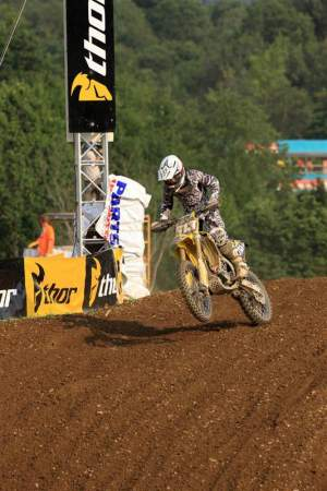 Decotis had a unique experience when he passed Kevin Windham in moto 2 at Unadilla.