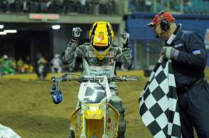 JSR won the final race of his career at last year's Montreal Supercross.