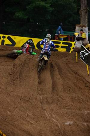 Robbie Marshall was challenged for second place late in moto 1.