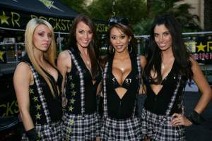 With Rockstar Energy drink comes Rockstar Energy girls.