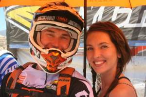 Newlyweds Justin and Courtney Soule made WORCS 9 part of their honeymoon. Justin battled his way into fifth by the flag.