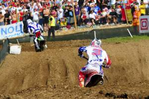 Ivan Tedesco (3) chased Paulin for most of the moto but couldn't quite reel him in.