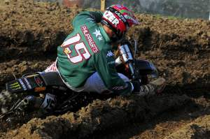 David Philippaerts took out Tedesco on his way to third in the moto.