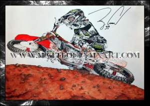 Matt Lofthouse spent two weeks on this Trey Canard piece.