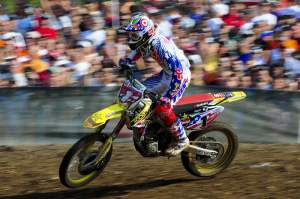 Ryan Dungey rode strong for third in the opening moto.