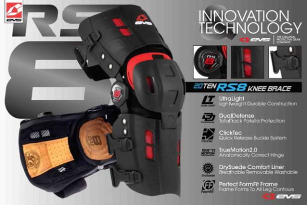 The new EVS RS8 knee brace