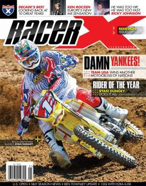 Here it is, the redesigned January 2010 issue of Racer X.