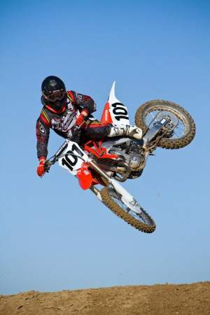 David Pingree aboard the 2010 CRF450.