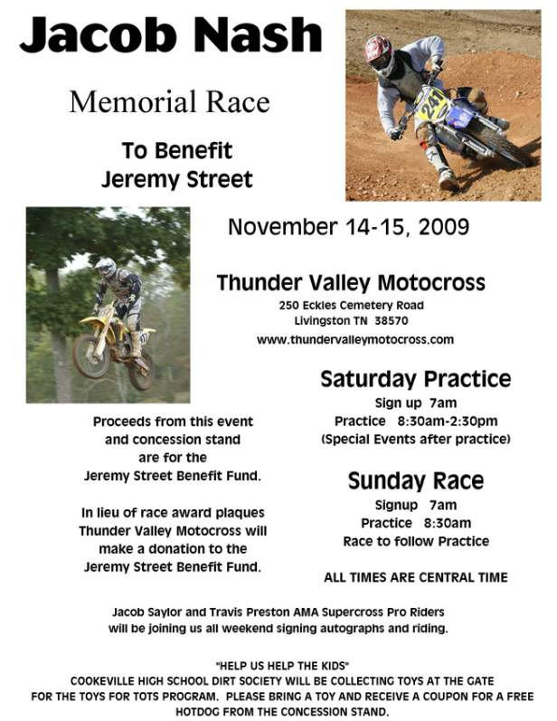 Jacob Nash Race Flyer