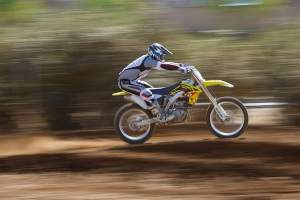 Here's Grant Langston on a Suzuki, but only because he borrowed it to work out on while he works on his 2010 deal.