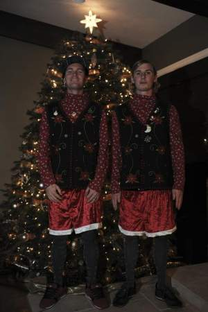 Ryan Morais and Jake Weimer, in the holiday spirit.
