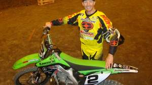 Crockard and his hybrid KX250.