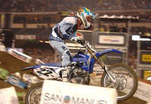 Chad Reed was the first rider to win with Hammerhead's holeshot device.