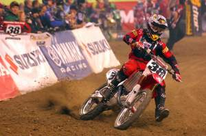Trey Canard wrecked Shorty's bike, but fortunately not his own body.